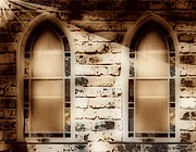 Old Windows Posters - Church Windows 3 Poster by Cheryl Young