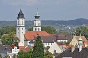 City Scape Metal Prints - Churches in Lindau Germany Metal Print by Matthias Hauser