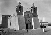 Taos Posters - Churches, Mission Church Of Ranchos De Poster by Everett