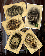 Christian Sacred Framed Prints - Churches of Europe Framed Print by Cecil Fuselier