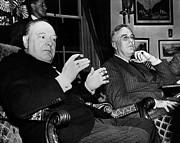 Churchill & Roosevelt Print by Granger