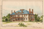 Churchill Prints - Churchill Hall. Whitemarsh PA. 1889 Print by Geo Pearson