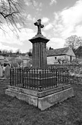 Derbyshire Cross Prints - Churchyard Memorial at Ashford-in-the Water Print by Rod Johnson
