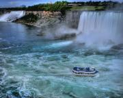 Niagara River Prints - Churning Niagrara Print by Don Wolf