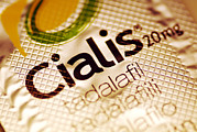 Drug Prints - Cialis Packaging Print by Pasieka