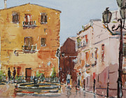 Sicily Paintings - Cianciana Sicily by Gerry Ludlow