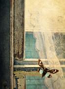 Cicada On Window Print by Jill Battaglia