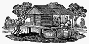 19th Century America Posters - CIDER MILL, 19th CENTURY Poster by Granger