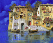 Village Painting Framed Prints - Cieloblu Framed Print by Guido Borelli