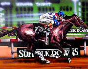 Horse Racing Prints - Cigar Print by Dave Olsen