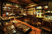 """indoor"" Still Life  Art - Cigar Shop by Yhun Suarez"