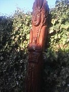 Pole Sculptures - Cigar Store Indian by Omakeme Asandwich