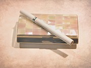 Cigarette Photos - cigarette and Antique Case by Sophie Vigneault