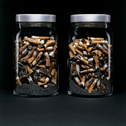 Cigarette Posters - Cigarette Butts And Ash Poster by Kevin Curtis