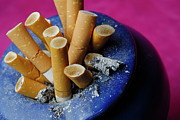Cigarette Photos - Cigarette butts in ashtray by Sami Sarkis