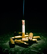 Cigarette Photos - Cigarette Deaths, Conceptual Image by Richard Kail