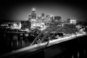 Blue And White Prints - Cincinnati A New Perspective Print by Kimberly Nickoson
