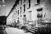 Dilapidated Houses Prints - Cincinnati Abandoned Buildings at Glencoe-Auburn Complex Print by Paul Velgos