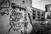 Dilapidated Houses Prints - Cincinnati Abandoned Buildings Graffiti Print by Paul Velgos