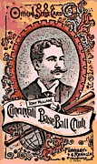 Hall Of Famer Posters - Cincinnati Baseball Poster by George Pedro
