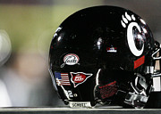 Sports Art Print Prints - Cincinnati Bearcats Football Helmet Print by University of Cincinnati