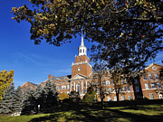 Hall Prints - Cincinnati Blue Skies Over McMicken Hall Print by University of Cincinnati