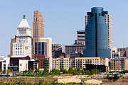 Ohio Photos - Cincinnati Downtown City Buildings Cityscape by Paul Velgos
