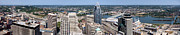 Cincinnati Panorama Aerial Skyline Downtown City Buildings Print by Paul Velgos