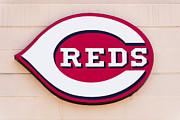 Team Photo Prints - Cincinnati Reds Logo Sign Print by Paul Velgos