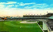 Baseball Stadiums Paintings - Cincinnati Reds Redland Field In 1910 by Dwight Goss