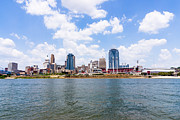 Riverfront Framed Prints - Cincinnati Skyline and Downtown City Buildings Framed Print by Paul Velgos