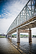 Ohio River Photos - Cincinnati Taylor Southgate Bridge by Paul Velgos
