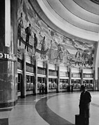 Terminal Photos - Cincinnati Union Terminal, Mural by Everett