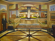 Cincinnati Painting Framed Prints - Cincinnatian Hotel Lobby Framed Print by Scott Jones