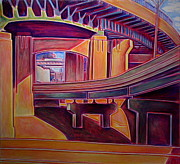 Cincinnati Paintings - Cincy Overpass by Clay Wainscott