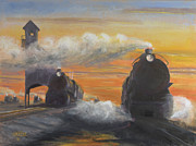 Silhouette Painting Originals - Cinder Town by Christopher Jenkins