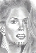 Flyers Drawings - Cindy Crawford by Rick Hill