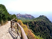 Italy Photo Prints - Cinqre Terre Corniglia From the Trail Print by Marilyn Dunlap