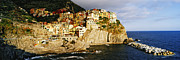 Hillsides Photos - Cinque Terra town of Manarola by Jeremy Woodhouse
