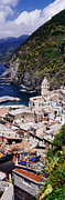 Hillsides Photos - Cinque Terra town of Vernazza by Jeremy Woodhouse