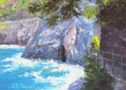 National Park Paintings - Cinque Terre Trail Italy by Elaine Farmer