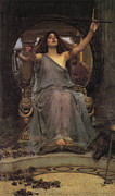 Sorceress Posters - Circe Offering the Cup to Ulysses Poster by  John William Waterhouse