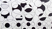 Circles Drawings Framed Prints - Circle Circle Framed Print by Beth Saffer