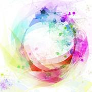 Shiny Digital Art Prints - Circle Of Life Print by Setsiri Silapasuwanchai