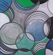 Round Pastels Prints - Circles and Springs Print by Nona Peru
