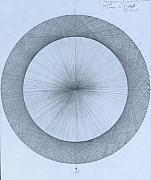 Abstract Expressionism Drawings Posters - Circles do not exist one degree Poster by Jason Padgett