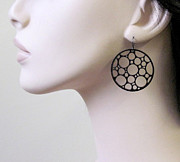 Large Earrings Jewelry - Circles Earrings by Rony Bank