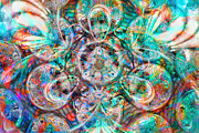 Blending Digital Art - Circles of Life by Mo T