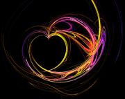 Abstract Hearts Digital Art - Circles of Love by Mary Morawska