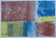 Printmaking Mixed Media Framed Prints - Circling the Key Framed Print by Libby  Cagle